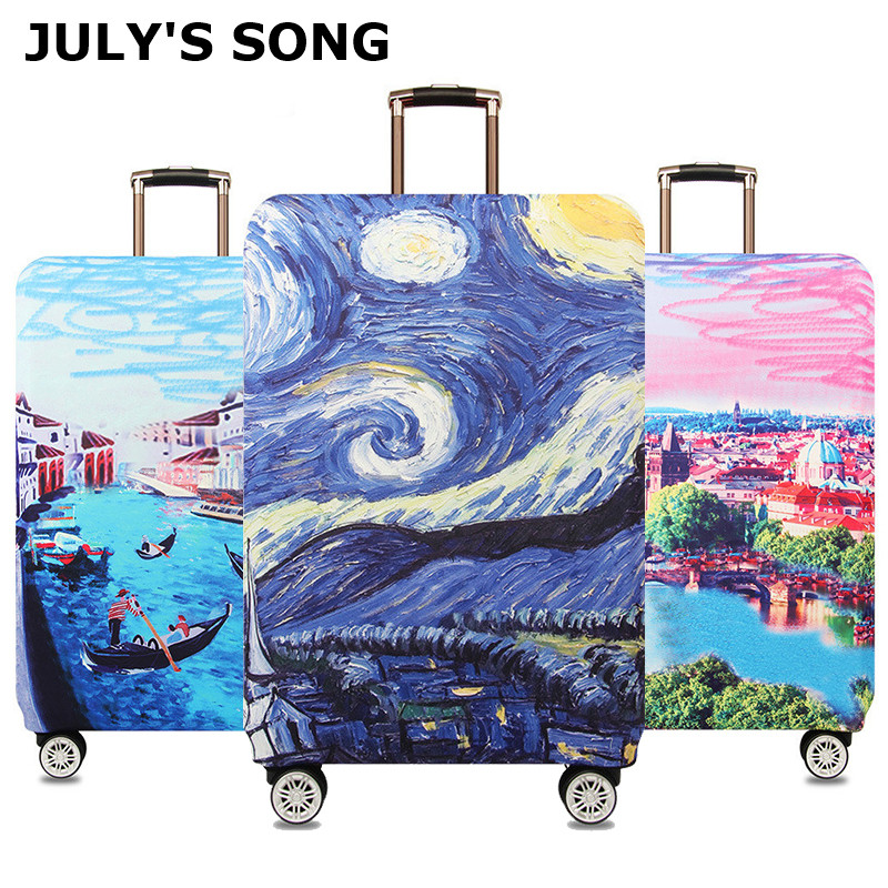 Starry Night Design Luggage Protective Covers Travel Suitcase Cover Elastic Dust Cases For 18 To 32 Inches Travel Accessories