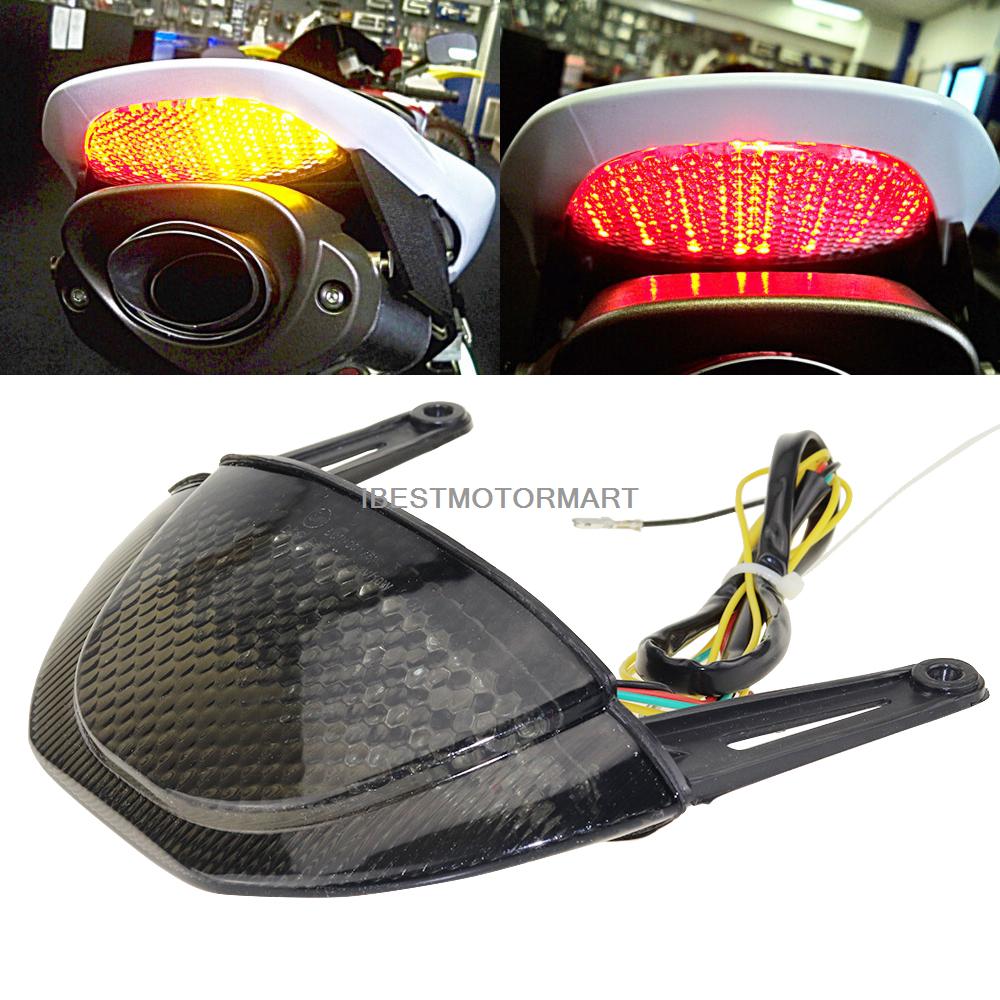 For Honda CBR600RR CBR 600 RR 2007 2008 2009 2010 2011 2012 Smoke Clear Rear Tail Light Brake Turn Signals Integrated LED Light