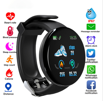 AmylingG D18 Bluetooth Smart Watch Men Blood Pressure Round Smartwatch Women Watch Waterproof Sport WhatsApp For Android Ios image
