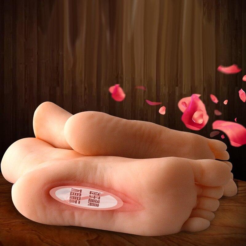 Foot Fetish Male Masturbator Feet Sex Artificial Vagina Real Pussy Sex Toys For Men Masturbators Realistic Vaginas Pocket Pussy
