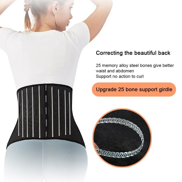 Women Waist Cincher Trimmer Back Support Sweat Crazier Slimming Body Shaper Waist Trainer Belt For Weight Loss Fitness Exercise 3