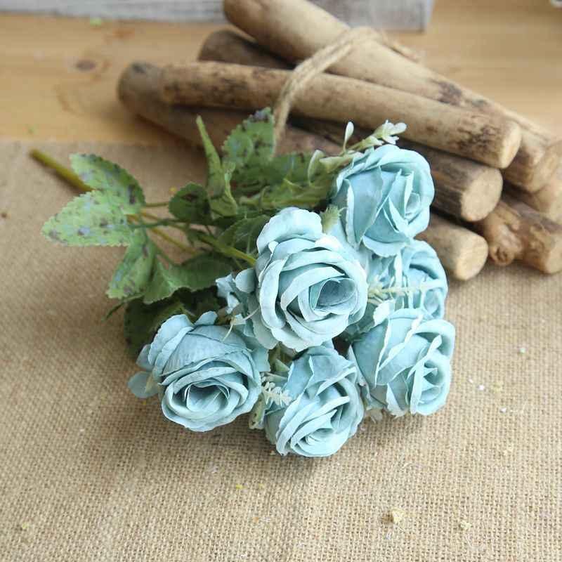 30 Cm 6 Kepala Mawar Sutra Peony Buatan Bouquet Palsu Bunga Rumah Pernikahan Dekorasi Kamar