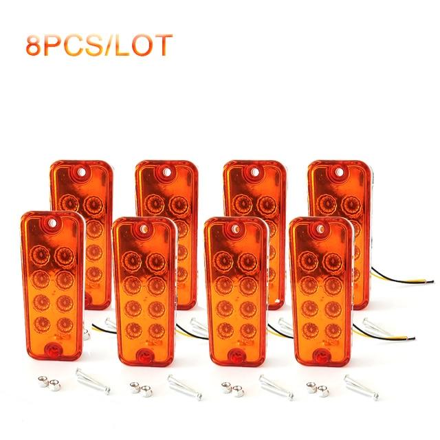 $ 16.05 8 pieces 12V 8 LED Side Marker Light Lamp Waterproof Truck Trailer Lorry Caravan