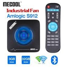 Mecool 3 기가 바이트 32 기가 바이트 안드로이드 TV 박스 스마트 TVbox Amlogic S912 2.4G 5G 와이파이 블루투스 팬 셋톱 박스 4K 스트리밍 M8S 최대 미디어 플레이어