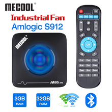 Mecool 3GB 32GB Android TV Box Smart TVbox Amlogic S912 2.4G 5G Wifi Bluetooth Fan Set Top Box 4K Streaming M8S Max Media Player