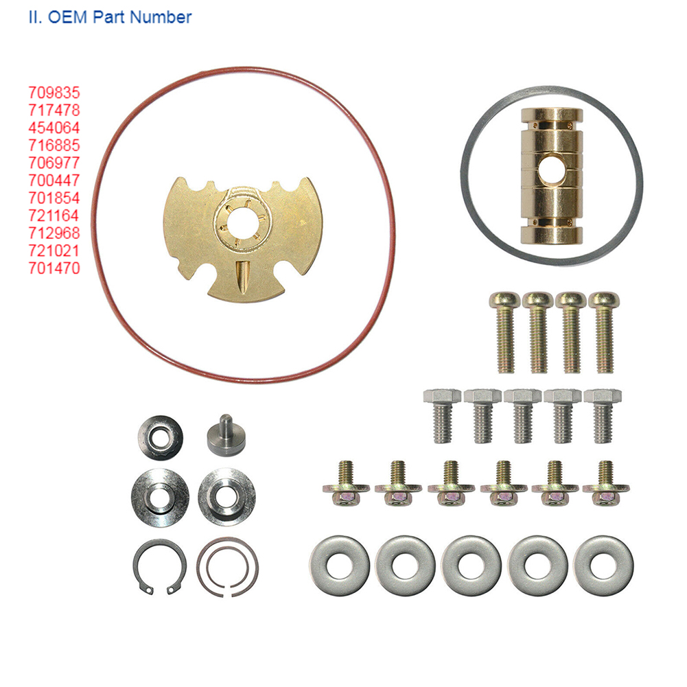 Metal Turbo Rebuild Tool O Ring Easy Install Durable Turbocharger Repair Kit Car Assortment For <font><b>Garrett</b></font> GT15-25 <font><b>GT1749V</b></font> image
