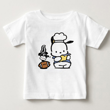 Boys and Girls 2-15 Years Old Children T-shirt S-3XL Pochacco Dog Cartoon Printing Summer Short Sleeve MJ