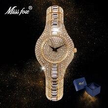 MISSFOX Watch Women 2020 Silver Gold Bracelet Fashion Full Diamond Bling Quartz