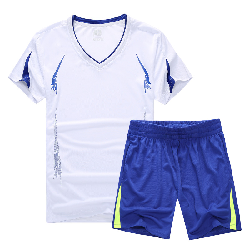Sports Set Men Running Fitness Suit Wicking Breathable Short Sleeve Shorts Sports Clothing Casual Two-Piece Set Summer