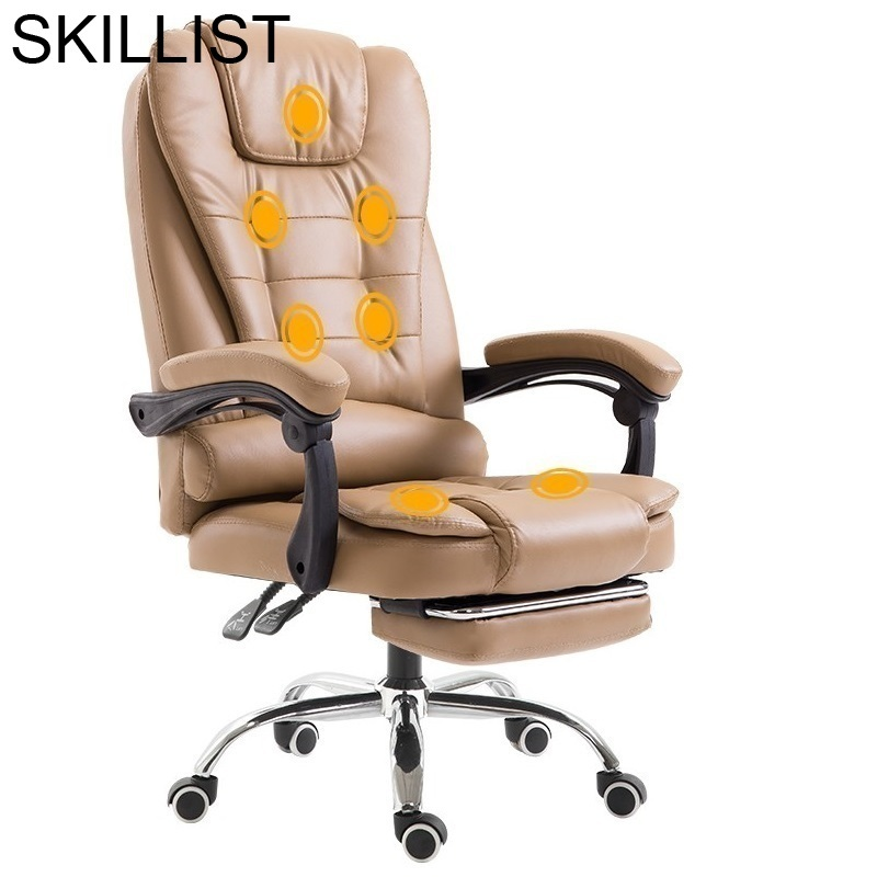 Sedia Ufficio Oficina Bureau Meuble Stoelen Gamer Cadir Fauteuil Armchair Leather Silla Gaming Cadeira Massage Office Chair
