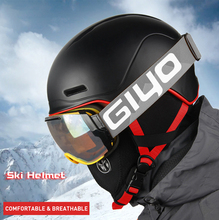 HotSale Professional Ski Snowboard Helmet Goggles Visor Adult and Kids Moto Snowmobile Skateboard Safety