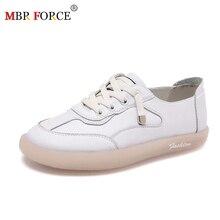 MBR kuvvet kadın Sneakers Flats Platform ayakkabılar moda dantel up açık rahat bayan ayakkabıları