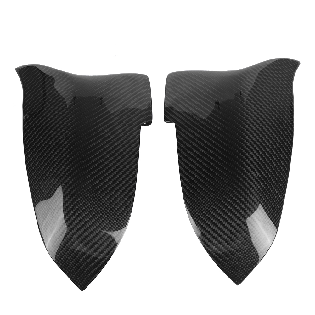 1 Pair M Style Replaced Carbon Fiber Mirror Cover for BMW 5 6 7 Series F10 F07 F06 F01 14-16