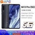 Xiaomi Mi 9 pro (5G) 512GB 12GB Mobilephone Mi9 pro 5G Snapdragon 855plus 5G 48MP Triple Cameras 4000mAh 6.39 '' 2340x1080
