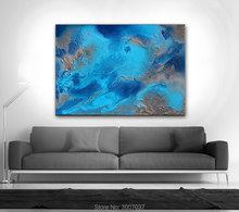 Handmade high quality thick knife abstract oil painting Ocean Painting Blue on Canvas Decor Oil art