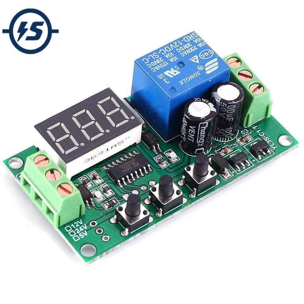 Pulse Signal Triggering Module Signal Detector Delay Relay Module LED Display DC 12V