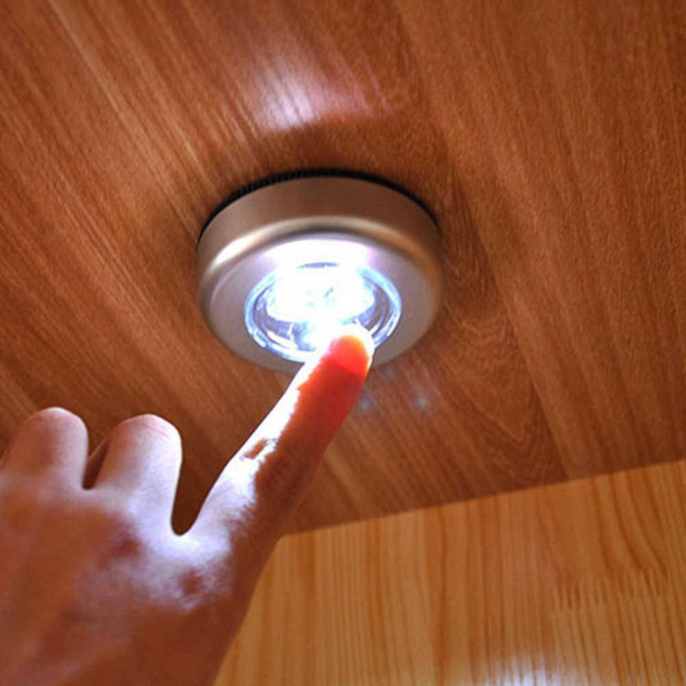 터치 민감한 찬장 캐비닛 접착제 LED 야간 조명 침실 천장 램프
