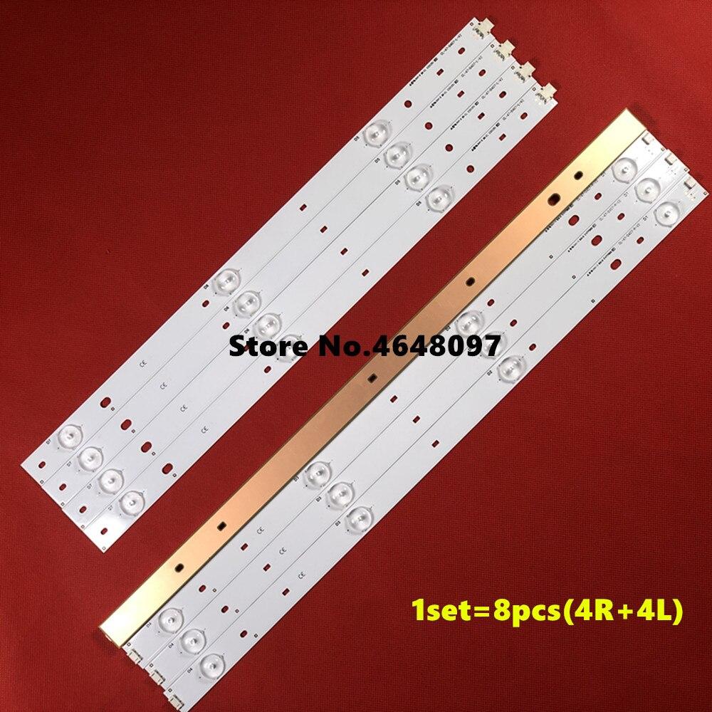 1set=8pcs(4R+4L) Led Backlight Strip For CL-47-D407-R-V2/CL-47-D407-L-V2 47PFH4109 TPT470H1-DUJFFE For Ph Illips47 Inch TV
