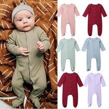 Одежда для новорожденных, Bebes Infant Одежда для маленьких мальчиков и девочек, для младенцев, для новорожденных, для маленьких мальчиков и девочек; Однотонный комбинезон Повседневная одежда комбинезон
