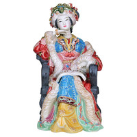 CLASSICAL JINLING TWELVE WANG XIFENG FIGURE FIGURINE CHINESE LADY CERAMIC STATUE CRAFT HOME DECOR R3268