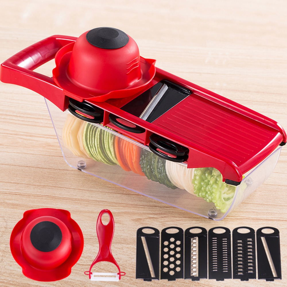 Multi-function Vegetable Slicer With Vegetable Cutter Manual Kitchen Accessories Tool Potato Peeler Carrot Grinder Cheese Grater