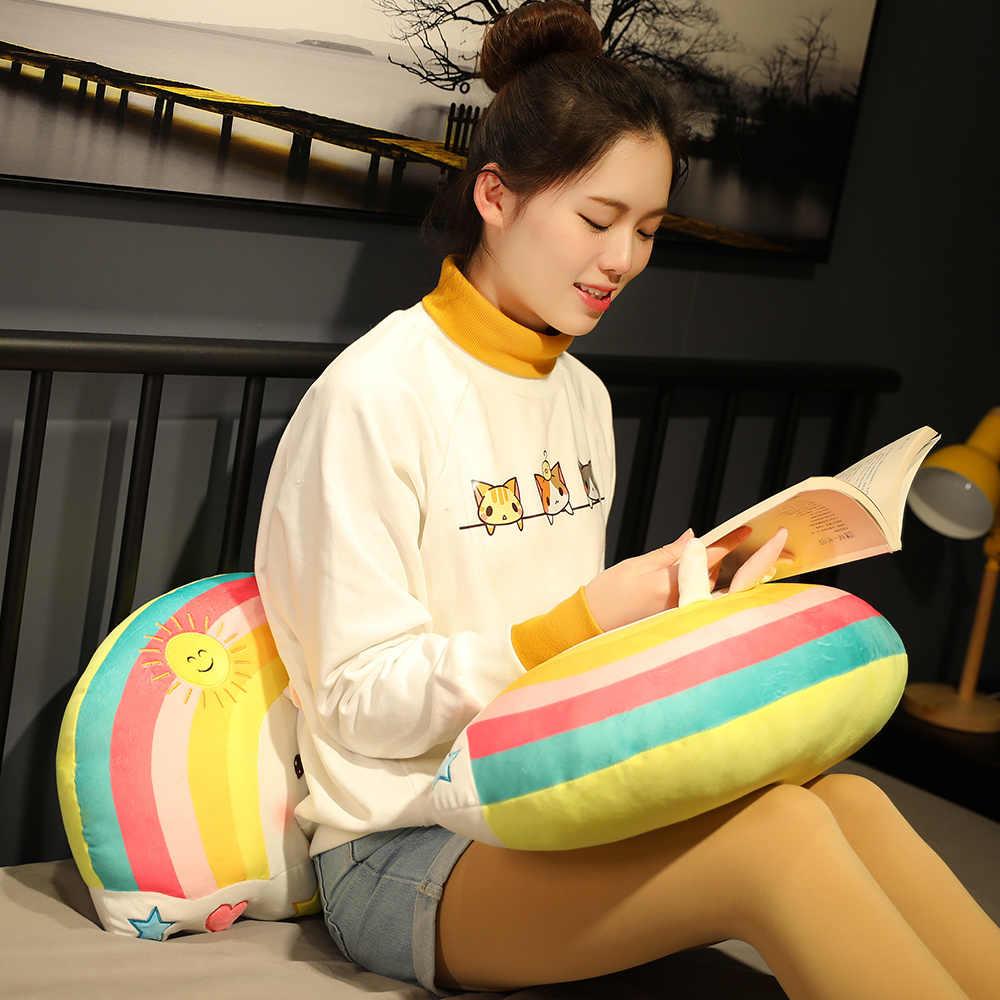 Новая плюшевая игрушка-подушка Kawaii Rainbow Unicorn Rabbit Pig, мягкая мультяшная игрушка-подушка с изображением животных, улыбающееся лицо, мягкая кукла, кровать, Подушка для сна