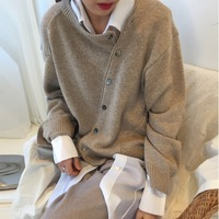 2019 Fall Winter Thick Cashmere Sweater Women Round Neck Cardigan Clothes Mujer Invierno Knit Plus Size Ladies Jumper Ropa Tops