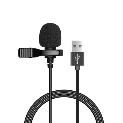 Mini microfone portátil de usb 1.5m lapela lapela microfone clip-on microfones de botão externos para computador portátil gravação bate-papo