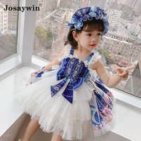 Vestido de verano para niñas, ropa de fiesta para bebés, vestido de boda para niñas, vestido de fiesta de princesa Lolita, 2021