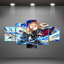 Modern Hd Home Decoration Canvas Painting 5 Pieces Fate stay night Wall Art Prints Modular Poster For Living Room