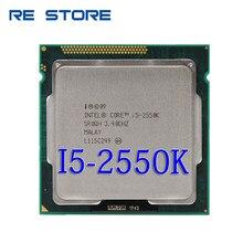 Intel i5 2550K dört çekirdekli 3.4GHz soket LGA 1155 6MB önbellek TDP 95W İşlemci