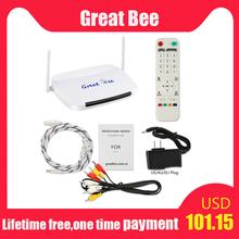 Great bee árabe tv box 2021 o mais novo great bee receptor de tv e mais quente, melhor venda android conjunto-topo caixa