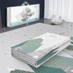 Image 2 - Tapis de jeu pliable réversible imperméable pour bébés, grand Puzzle XPE, tapis de jeu Portable, Double face, pour enfants
