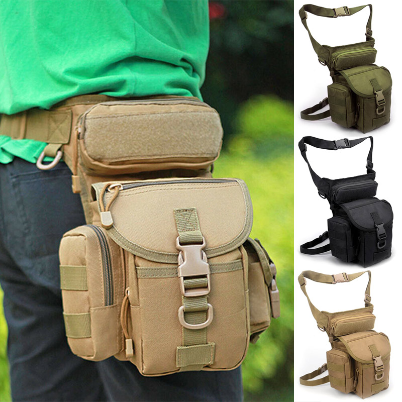 Belt Bag Fashion Men Army Vintage Thigh Bag Utility Waist Pack Pouch Adjustable Hiking Male Waist Hip Motorcycle Leg Bag O66