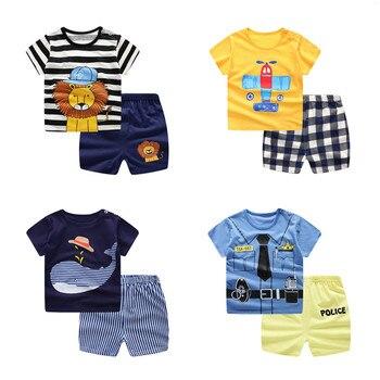 Unisex Kids Summer Short-Sleeve Sets