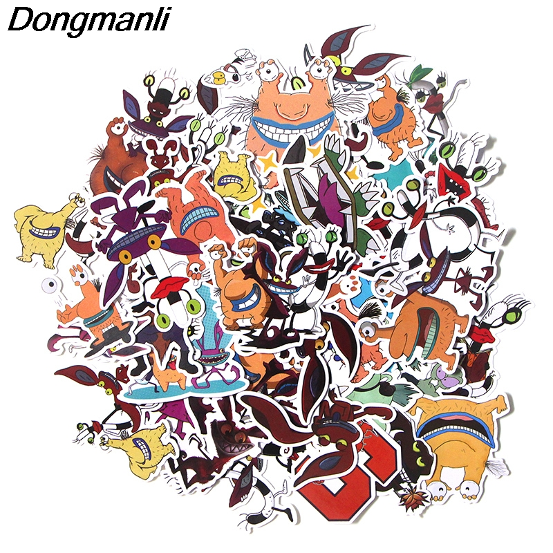 PC53 42 Pcs/set Aaahh!!! Real Monsters Scrapbooking Stickers Decal For for Guitar Laptop Luggage Car Fridge Graffiti Sticker