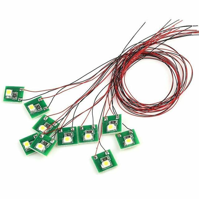 DD00W 10pcs Pre Wired Bright White SMD 3528 Led Lamp Light Set 12V ~ 18V NEW 6