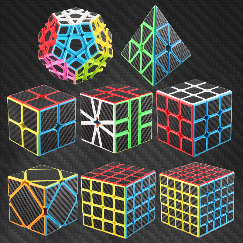 3x3x3Carbon Fiber Professional Magicco Cube Speed Cubes Puzzle Neo Cube Cubo  Magico Sticker Adult Anti-stress Toys For Children