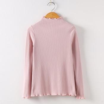 2019 Long Sleeve Shirt Mesh Top Poleras De Mujer Moda Women Shirt Women Cotton T-shirt Women Tops Casual Tee T Shirt 6268 50 - Pink, S