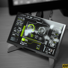 1024*600 IPS HD 7 дюймов с Экран Температура мониторинга среднего Экран Рабочий стол для Raspberry Pi компьютер Дисплей чехол
