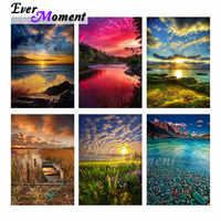 Ever Moment Алмазная Картина Дерево река звезда искусство 5D DIY мозаика полностью квадратная картина горный хрусталь Алмазная вышивка ASF2062