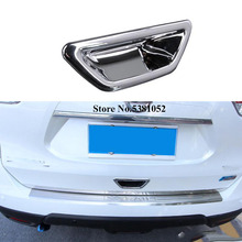 цена на For Nissan X-Trail X Trail T32 Rogue 2014-2016 2017 2018 2019 Car Rear Behind Door Handle Bowl Cover Cap Trim Car Accessories