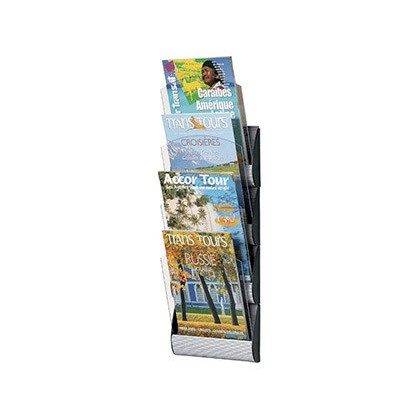 EXHIBITOR MURAL FAST-PAPERFLOW 4 Boxes DIN A4 ALUMINUM COLOR 735X232X90 MM
