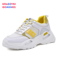 Krasovki Genuines Sneakers Women Increase Autumn Breathable Dropshipping Fashion Thick Bottom Mixed Colors Causal Shoes