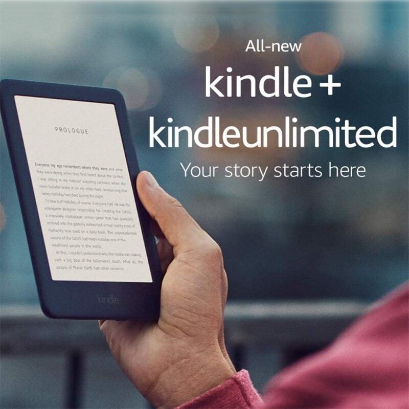 Отремонтированный все новые Kindle черный 2019 версия со встроенным спереди светильник, Wi-Fi, 4GB для чтения электронных книг e-ink экран 6-дюймовый Эл...