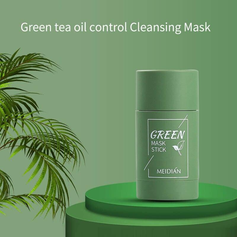MEIDIAN Зелёный чай маска сплошной маска для лица Стик масло Управление увлажняющая Очищающая маска для удаления черных точек тонкая маска суж...