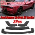 3 шт.  автомобильный передний бампер  разветвитель  набор для губ  спойлер  диффузор  защита Бампера Для Dodge  Challenger SXT SRT HELLCAT  все 2012-2019