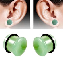 Ear Expander Piercing 1 Pair of Stone Plugs Tunnels Gauges Body Jewelry