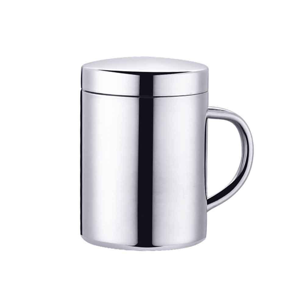 Double Wall Travel Mug 350 Camping Cup Insulated Mug with Lid and Handle 400ml