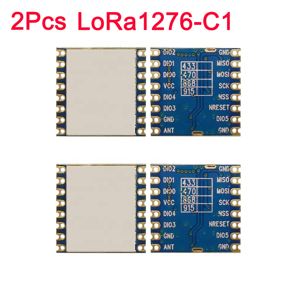 2Pcs FCC LoRa1276-C1 100mW SPI 868MHz /915MHZ 4KM SX1276 Lora Wireless Module Long Range LoRaTM,FSK,GFSK,OOK IOT For Smart Home